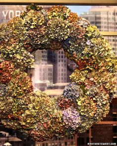 Hydrangea Wreath The Martha Stewart Show
