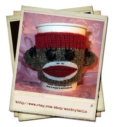 Coffee cup cozy...I needs me one of these