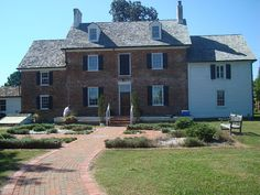 Front of the Ferry Plantation House historical plantation-era museum in Virginia Beach, Virginia