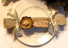 Sweet idea for each Thanksgiving place setting