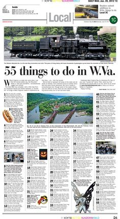 West Virginia bucket list. How many of these 55 things have you done?