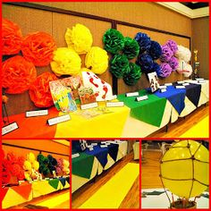 rainbow theme, idea, church, wizards, young women, rainbow colors, lds, wizard of oz, parti