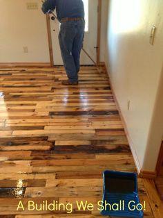 pallet flooring diy - Google Search