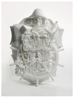Steady As She Goes by Luca Ionescu is a 3D printed typographic sculpture.