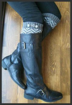 AS-Is / IMPERFECT - Chevron Crest : very DARK Grey Chevron Leg Warmers w/ Assorted Metal Military Buttons (item no. 1-9)