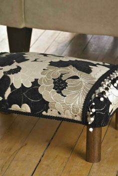 Put your feet up with a sturdy DIY footstool that you can make with your favorite fabric from JoAnn's. :)