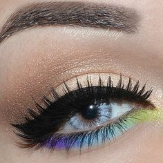 makeup eyes, color combos, pretti color