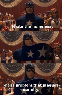 Captain America. This part... Hahaha