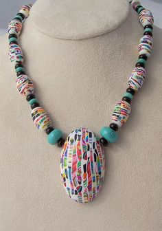"""Stroppel Scrap Cane """"Scrapple"""" by jembox, via Flickr -- Mr. Jan Montarsi has a great eye for creating striking jewelry pieces!"""