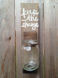 Laundry Room Keep the Change Jar