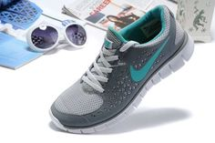 Nike Free Run Womens Light Grey Pure Blue