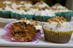 Cupcakes de zanahoria - Paleo, libre de gluten - Dieta Paleo