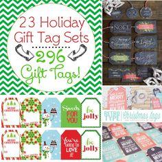 296 FREE Printable Holiday Gift Tags