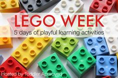 Toddler Approved!: LEGO Week {5 Days of Playful Learning Activities} Activities For Kids, Lego Learning, Lego Weeks, Kids Activities, Lego Ideas, Lego Duplo, Lego Activities, Learning Activities, Fun