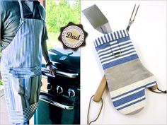 cook apron, bbq apron tutorial, father day, fathers day gifts, guy gifts