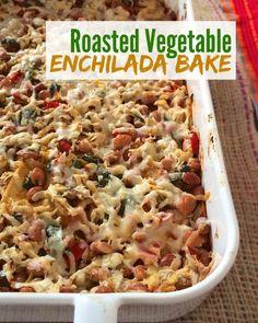 Enchilada Bake | www.teaspoonofspice.com An easy and yummy vegetarian ...