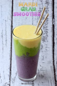 three layered protein smoothie