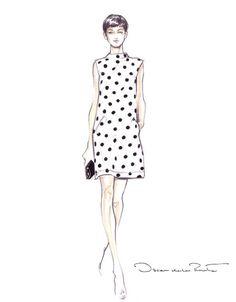 Oscar de la renta fashion sketches