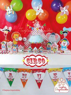 Decoraciones de fiesta para imprimir Circo