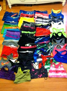 sports bras and spandexxx. (:  I want them all!!
