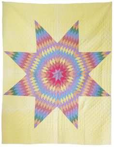 Vintage American Texas Lone Star Patchwork quilt | The Apartment