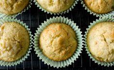 rhubarb + ginger muffins