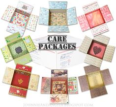 Care Packages!  Box decoration, content ideas, and tips for a variety of packages. #MilitaryCarePackage #Deployment