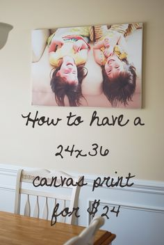 How to have a canvas print for cheap