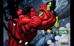 She-Hulk Vs. Rulk wallpaper