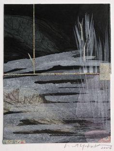 Margaret Yuko Kimura, (Japanese / American, born 1968) Moonlight 6, (etching, collage and paint, 2004).