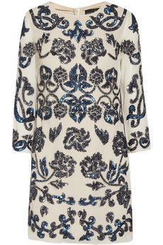 Needle & Thread Empress sequin-embellished crepe mini dress
