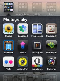 """add new i-phone apps:    """"Camera+"""" - fancier, faster, & a better quality camera than the built-in camera app. Also:  """"Frametastic"""" -easily creates collages of multiple photos. and """"Snapseed"""" - photo editing tool"""