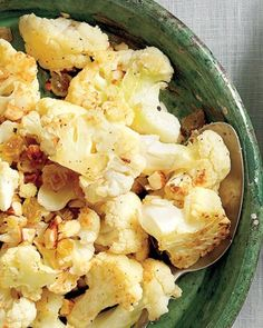 Cauliflower with golden raisins and pine nuts