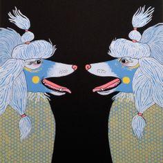 new poodle screen prints #art #prints #poodles