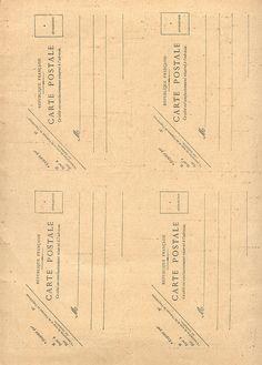Vintage Postcard back template - via by pilllpat (agence eureka), via Flickr