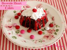Brownie Heart Cakes