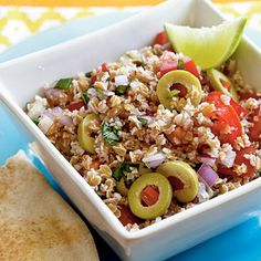 Tart  Tangy Bulgur Salad - Whole-Grain Salads - Cooking Light