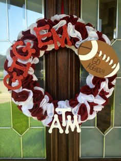 DIY Aggie wreath.  Idea from domestifluff.com