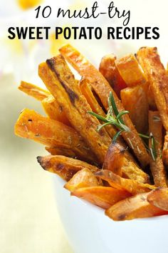 Did you know sweet potatoes are full of Vitamin D, which helps to boost your immune system? No? Neither did I! And since I find the ridiculous weather fluctuations this time of year make everyone sick (will summer EVER arrive?!), you better believe I'm trying all 10 of these awesome sweet potato recipes!