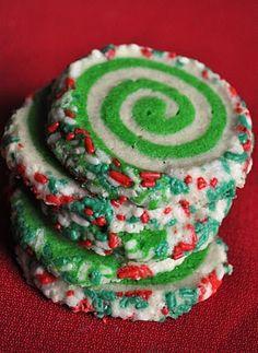 Christmas swirl cookies