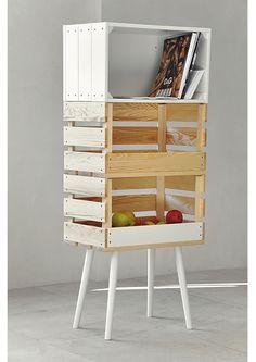 DIY Wooden Box Shelf