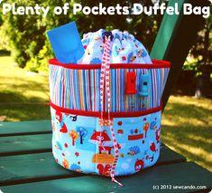 Sew Can Do: A New FREE Pattern: Plenty of Pockets Duffel Bag