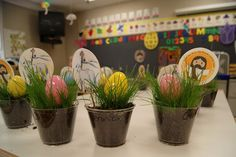Easter gifts - Real grass in cups with an egg and Resurrected Jesus! (From: My Little Flower)