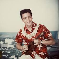 Elvis playing ukulele