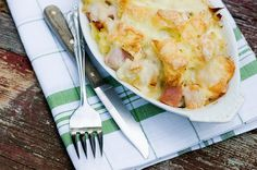 Monte Cristo Bread Pudding.  Yep, my favorite sandwich, now starring in a bread pudding!