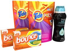 Tide Pods, Downy Fabric Softener,& Bounce Sheets Laundry Care Bundle Pack; Up to 70 Loads of Laundry Tide http://www.amazon.com/dp/B00H8MYRJI/ref=cm_sw_r_pi_dp_gJMhub01AN2RD