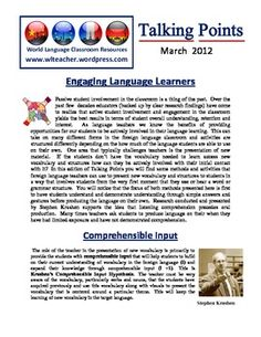 World Language Classroom Teaching Professional Development Newsletter for Foreign Language Teachers  (03/2012)