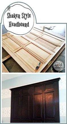Closet doors to head board