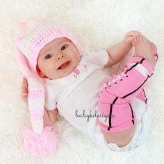 Pink FOOTBALL Leg Warmers. Baby Legwarmers.Girls by Baby K Designs