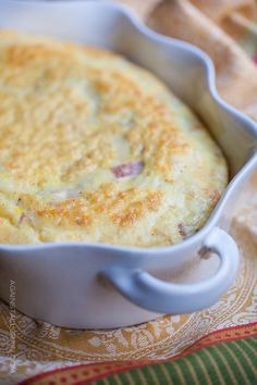 Baked Omelette with Ham and Gruyere
